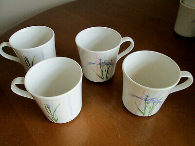 4 Corelle Coordinates Shadow Iris Coffee / Tea Stoneware Mugs / Cups