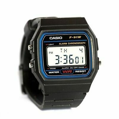 Casio Classic Digital Watch Alarm Chronograph 30M Water Resistant F-91W-1CR