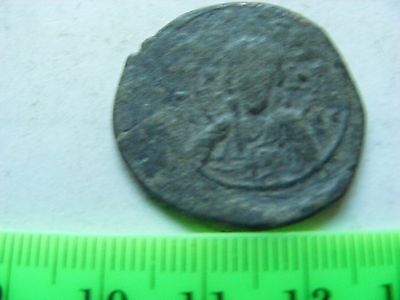 BYZANTINE Large (25mm) Byzantine coin, Eastern Roman Empire,(B12) CHRIST on coin
