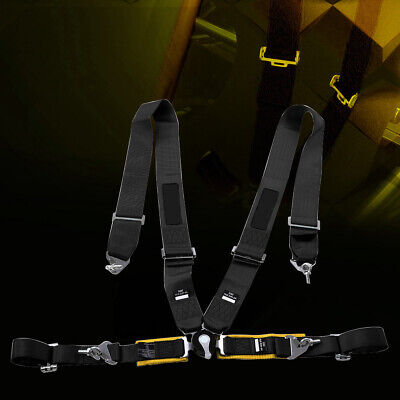3IN 4-Point Racing Car Safety Seat Belt Harness with Cam Lock&Adjustable Strap