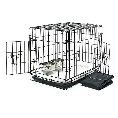 Cage Box de transport Pliable Set complet Chien Caisse mobile XS 60x43x48.5cm