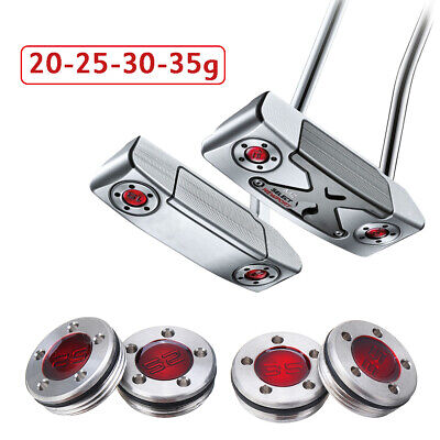 2Pcs Red Golf Custom Weights For Titleist Scotty Cameron Putters 20/25/30/35g
