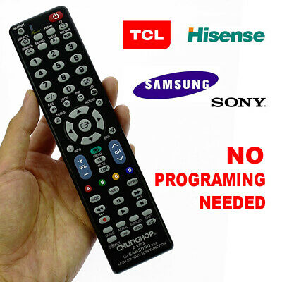 NO PROGRAM LCD LED 3D Smart TV Remote Replacement for Samsung TCL Hisense Sony