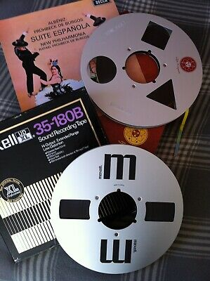 """Reel to Reel 15ips 2-Track Mastertape-Copy """"Suite Espanola"""" 38cm/s maxell UD-XL"""