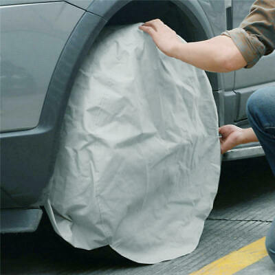 2*Spare Wheel Protective Cover Tyre Tire Storage Bag Universal 27-29 Inch Silver