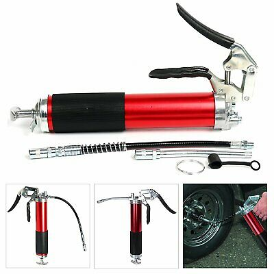 "Portable Heavy Duty Pistol Grip Grease Gun With 12"" Flex Hose 4500PSI Aluminum N"