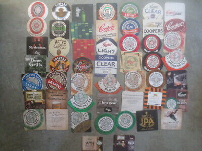 51 differerent COOPERS Brewery ,South Australian Issue BEER COASTERS collectable