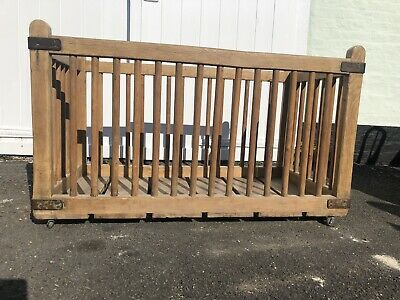 Rare Early Wood Laundry Trolley - Architectural Salvage / Industrial
