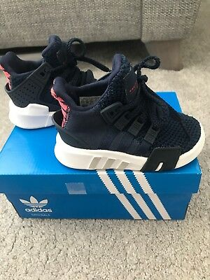 6a3318b2e480 adidas Originals Eqt Bask Adv J Collegiate Navy Textile (Size 5 Infants)