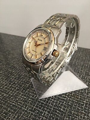 Bulova 98B156 Men's Precisionist Gold Dial Date Two-Tone Stainless Steel Watch