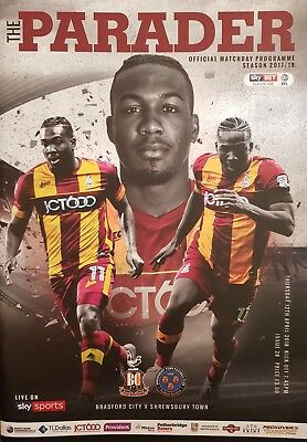 BRADFORD CITY v SHREWSBURY TOWN 2017/18