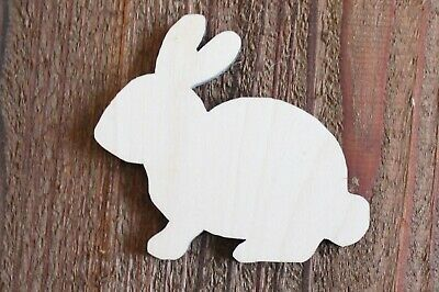Easter Bunny Rabbit Sitting Unfinished 14 Thick Wood Laser Cutout Shape Crafts