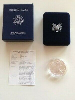 2001 American Silver Eagle 1 oz  Proof Coin - OGP