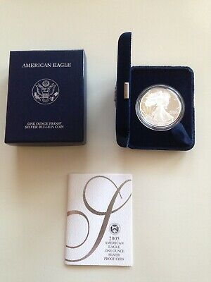 2005 American Silver Eagle 1 oz  Proof Coin - OGP