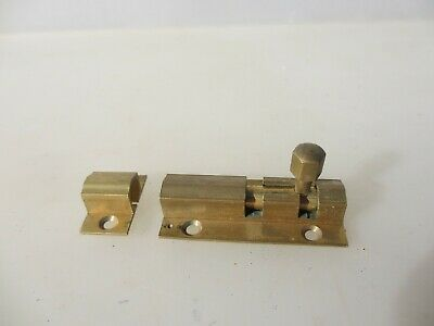"Brass Door Lock Bolt Bathroom Lock WC Toilet Old Keep Retro - Modern     2.75""L"