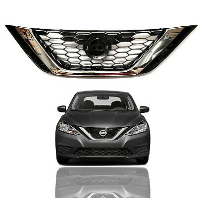 Fit For Nissan Sentra Front 2016-2018 Front Upper Hood Grille OE Factory Style