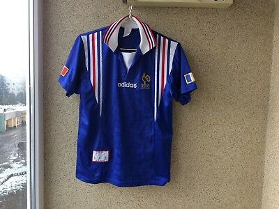 d089be73c19d9 France Home football shirt 1996 1997 Jersey S Adidas Soccer OLD Vintage  Camiseta