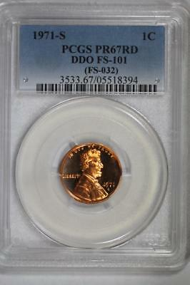 1971 S Proof Lincoln Cent DDO PR67 RD PCGS Double Die FS-101 (FS-032) 1c US Mint