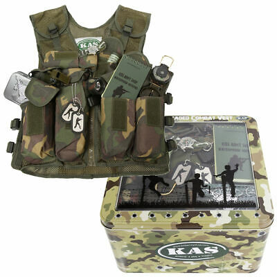 Kids Army KAS Combat Fully Loaded Assault Vest Ammo Camouflage Soldier Costume