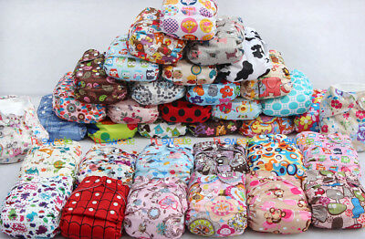 Lot 30 20 INSERTS + 20 DIAPERS Baby Cloth Diapers Pocket Nappies One Size Covers