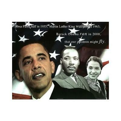 CANVAS Historic Our Children Will Fly 11x14 Art Gallery Wrap MLK Obama