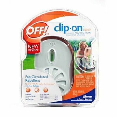 3 PACK OFF!! Clip-On Fan Circulated Mosquito Repellent -NEW