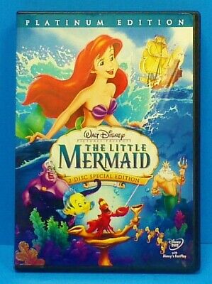 The Little Mermaid Platinum Edition DVD, 2 Disc Set, 2006