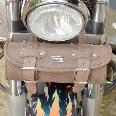 Brown Leather Triumph Rocket Daytona Bonneville Thunderbird Tan Tool Roll Bag