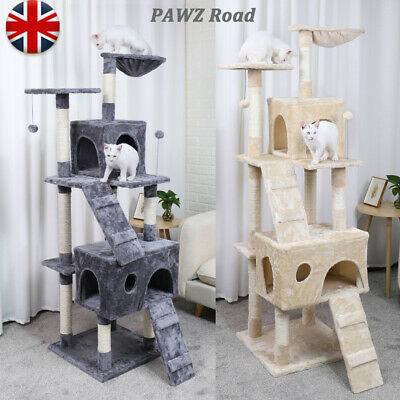 Cat Scratching Post Tree Large Condo Gym Furniture Kitten Funny Toy Sisal 173CM
