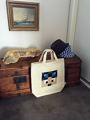 DanTDM The Diamond Minecart Youtube Hero Stampy Tote Bag  Minecraft Party Favors
