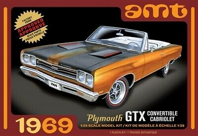 AMT 1/25 1969 Plymouth GTX Convertible Plastic Model Kit 1137M AMT1137M