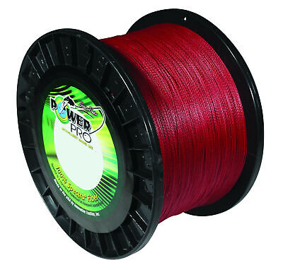 Power Pro Spectra Vermilion Red Braided Line Premium Strong Red Braided Line