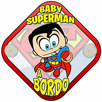 Placa bebé a bordo Baby Superman a bordo