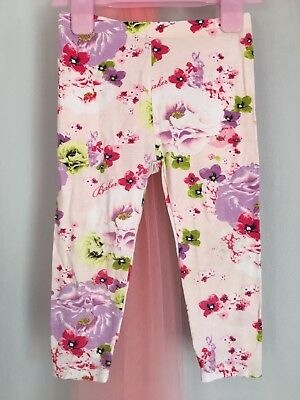 Lovely Baby Girls Designer Ted Baker Pink Floral Print Leggings 12-18m🌸🌸