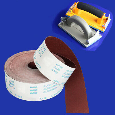 "4.5"" 4"" Aluminum Oxide Emery Cloth Sandpaper Roll 60-800 Grit 1m Sander + Holder"