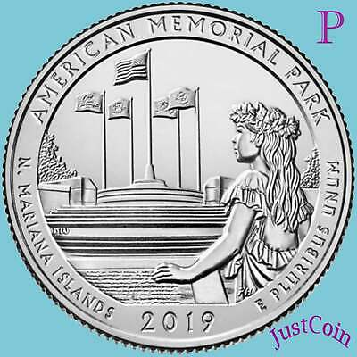 2019-P AMERICAN MEMORIAL PARK (N.Mariana Islands) UNCIRCULATED QUARTER