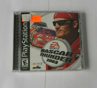 NASCAR Thunder 2003 (Sony PlayStation 1, 2002) COMPLETE   FAST SHIPPING   PS1