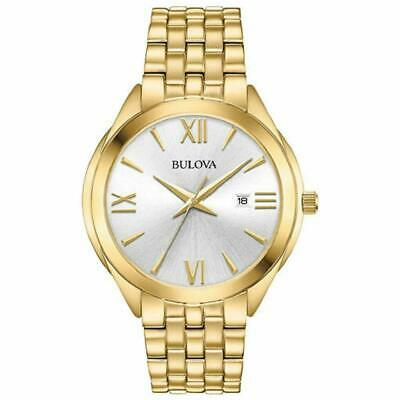Bulova  42mm Men's Classic Analog Quartz Water Resistant 30M Watch, Gold Tone