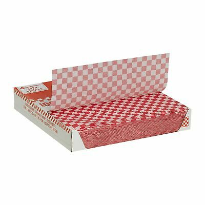 "Member's Mark | Red Checked Basket Liner Sandwich Wrap Sheets 12"" x 12"" 