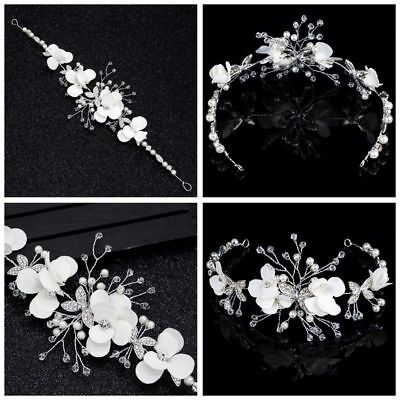 Bridal wedding Head Piece Hair Accessories Tiara Garland Crown Diamontes Bride
