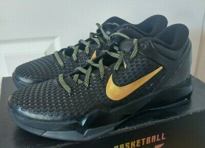 size 40 d534e 5463d New Nike Zoom Kobe Vii System Elite Sz 12 Kobe 7 Black Metallic Gold 511371