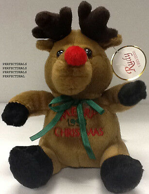 9278136702f Merry Christmas Rudy Rudolph Red Nose Reindeer Beanie   2000