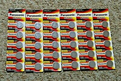 30 x Panasonic 3V CR2032 Lithium Coin Cell Batteries - FREE POSTAGE