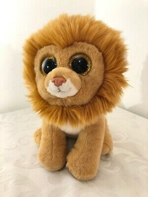 """bea314b9d93 TY Beanie Boo 10"""" Louie The Lion VelveTy Toy Plush Very Soft Excellent  Condition"""
