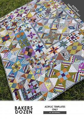 Bakers Dozen Jen Kingwell Designs Scrappy Quilt Acrylic Templates