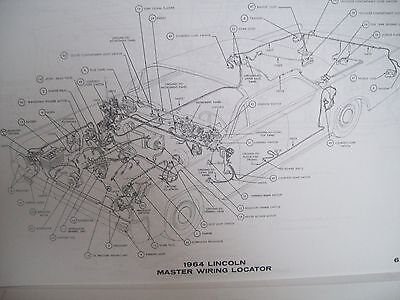 1963 lincoln continental wiring diagram must have!! large format 11x17 one  sid