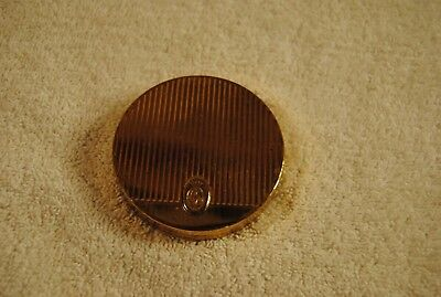 Vintage Round COTY COMPACT - French Flair Bronze Cosmetic Compact