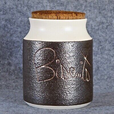 Hanstan Pottery Biscuit Canister Size 7, Cream Glaze, Melbourne c.1970s
