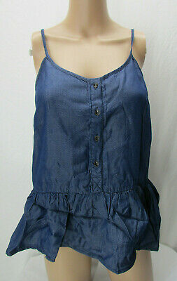 05c38d765508a Universal Thread Women s Drop Waist Denim Tank Top Size XS Blue New