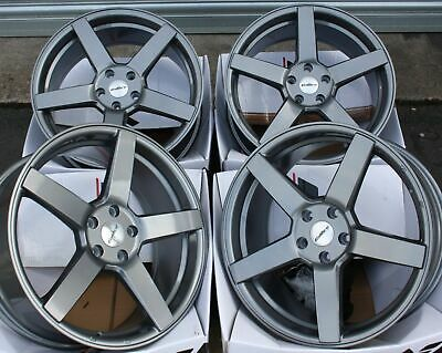 "ALLOY WHEELS X 4 19"" GREY CC-Q FOR 5x112 AUDI A3 S3 A4 S4 B5 B6 B7 B8 B9 A6"